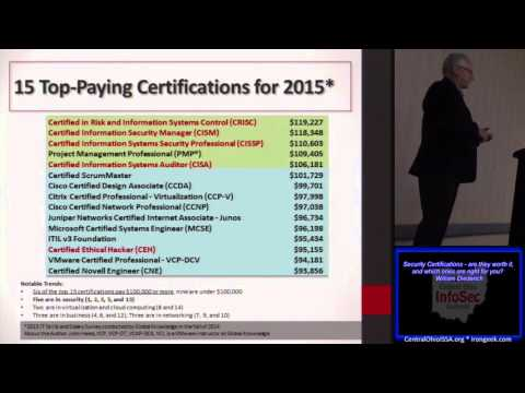 COIS MA04 Security Certifications are they worth it and whic