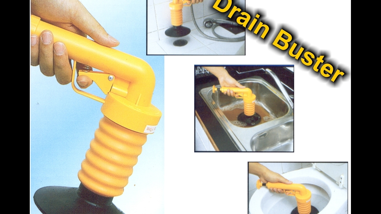 Drain Buster Compressed Air Pressure Plunger Blocked Drains Sinks ...