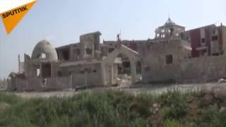 بالفيديو...لحظة دخول الجيش السوري والدفاع الوطني بلدة حلفايا