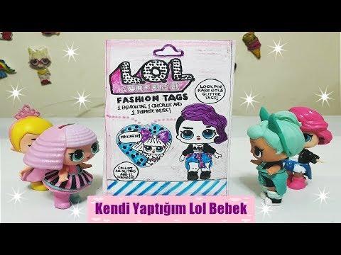 Kendi Yaptığım Lol Bebek Fashion Tags Paketi::Türkiye'de Olmayan Lol Bebek Sürpriz Paket
