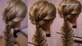Воздушная коса  Рыбий хвост  Причёска из длинных волос  Hair tutorial