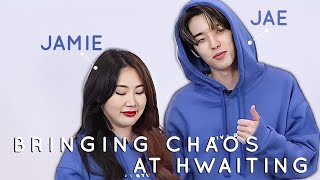 day6 jae and jamie bringing chaos at hwaiting