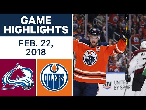 NHL Game Highlights | Avalanche vs. Oilers – Feb. 22, 2018