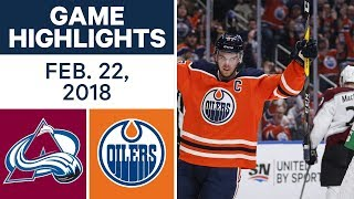 NHL Game Highlights | Avalanche vs. Oilers - Feb. 22, 2018