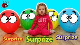 Baloane Mari cu Surprize   Invatam Culorile   Video Educativ pentru Copii