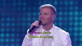 Brian sing Nick´s part, BSB - I Want It That Way Live Program