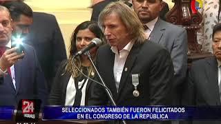 PPK y Congreso de la República rinden homenaje a Selección Peruana de Fútbol