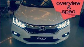 Honda City 2017 spec & overview