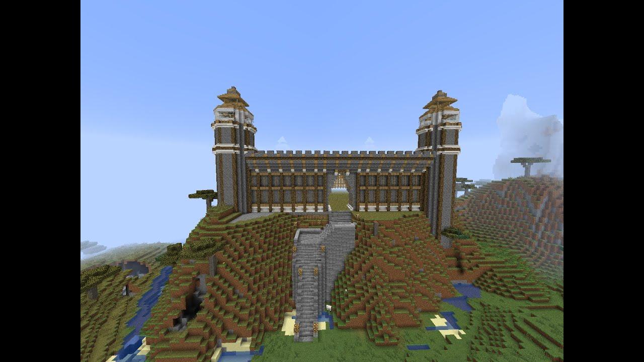 Minecraft construction d 39 un ch teau l 39 entr e youtube - Chateau de minecraft ...