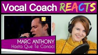 Vocal Coach reacts to Marc Anthony, Hasta Que Te Conocí, Festival de Viña 2009