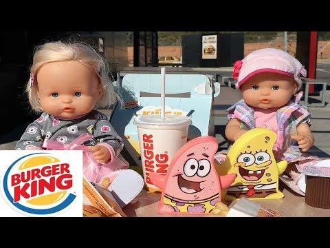 Burger King fiesta de muñecas bebes nenuco!regalos y juguetes sorpresa King Junior.Aventuras Lola