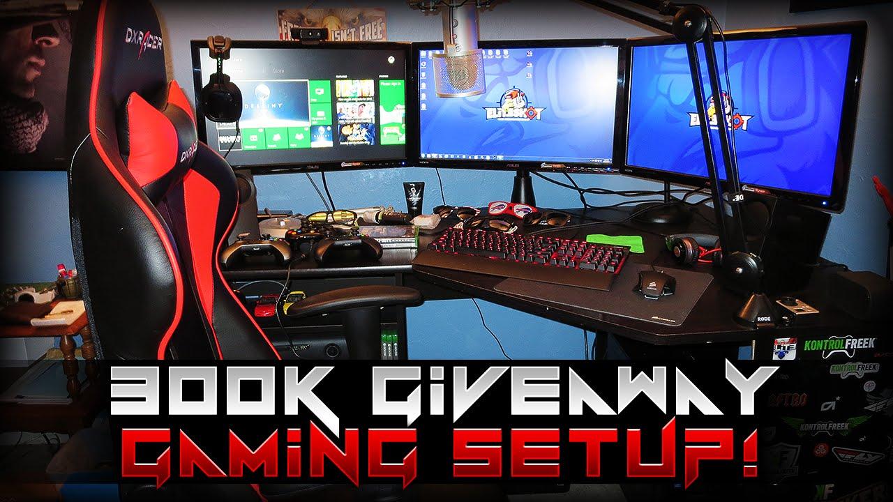 EliteShot Gaming Setup  300k Celebration  YouTube