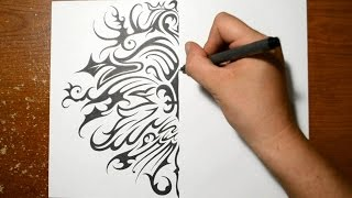 Designing a Symmetrical Tribal Pattern - Fleur De Lis Design
