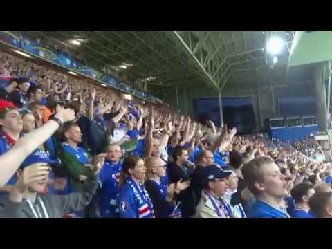 Euro 2016 Portugal vs Iceland Iceland fans singing