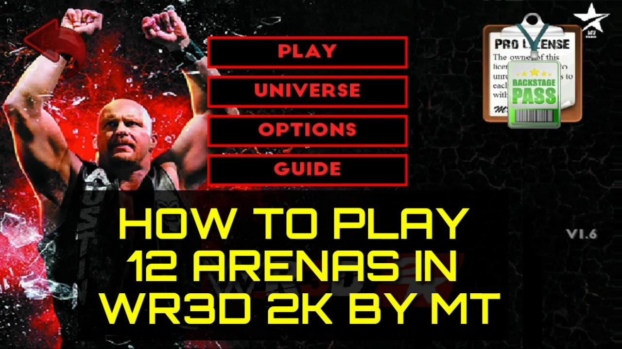 WR3D 2K MOD BY MT | HOW TO PLAY IN 12 ARENAS | LINK IN DESCRIPTION |  NUNAVUT CULTURE by MT GAMING