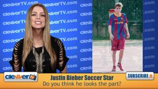 Justin Bieber Plays Soccer In Spain