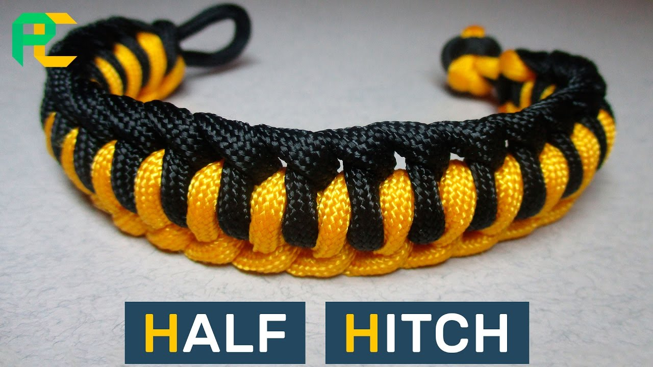 Half Hitch Paracord Bracelet Without Buckle Youtube