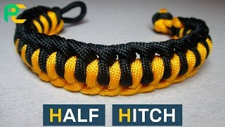 Half Hitch Paracord Bracelet without buckle