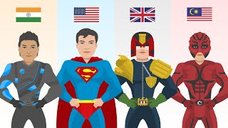 Superhero From Each Country