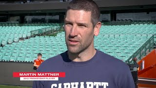 Martin Mattner visits Training