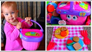 Best Educational Toy! LeapFrog Shapes And Sharing Picnic Basket Unboxing and Kids Playtime