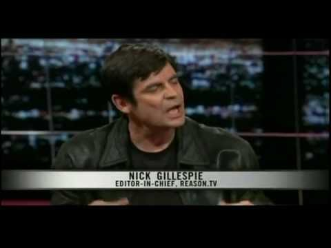Nick Gillespie Stumps Rabid Raccoon Rachel Maddow On Her Partisanship - Real Time With Bill Maher
