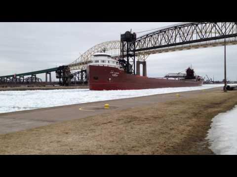 Great Lakes freighter Kaye E Barker