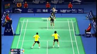 [Highlights] Badminton KOO Kien Keat Tan Boon Heong vs Lee Yong Dae CHUNG Jae Sung 2009 China [2/3]