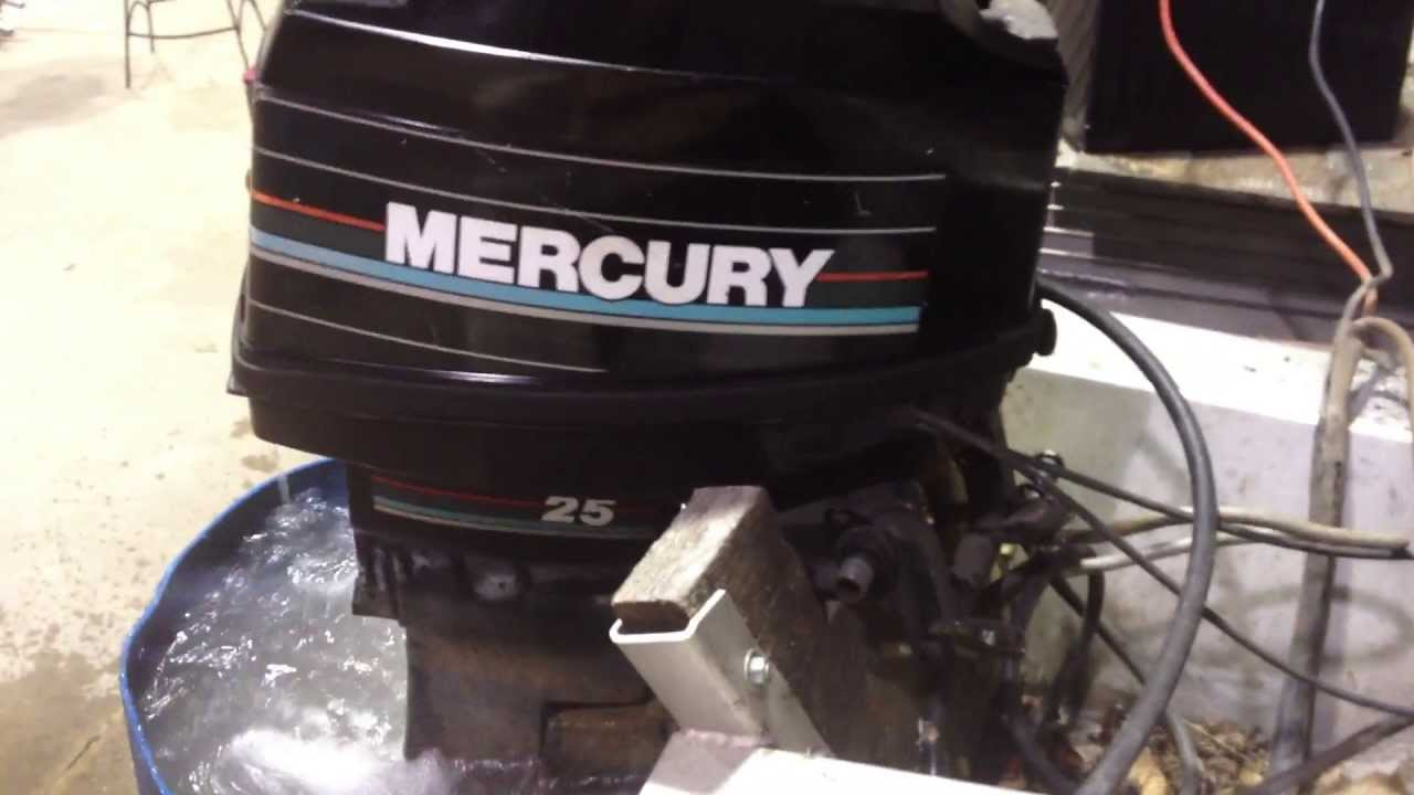Mercury 25hp outboard motor youtube for 2 2 mercury outboard motor