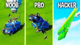 NOOB vs PRO vs HACKER - BATTLE BUS in Fortnite!