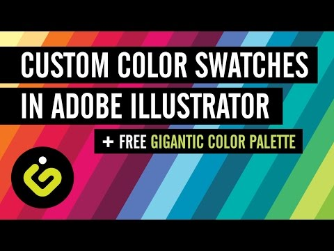 Custom Color Swatches in Adobe Illustrator + FREE Gigantic Color Palette