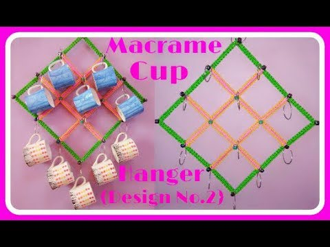 Simple Macrame Cup Hanger. {Design No.03}