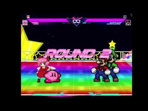 MUGEN: Kirby and Ribbon vs. Super Mario and Super Luigi