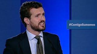 """Casado contrapone experiencia PP frente a los que parecen """"más duros"""" en Cataluña"""