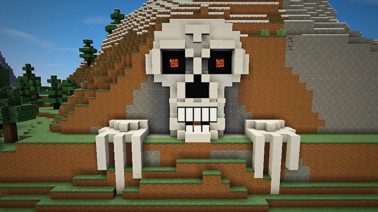 Minecraft como hacer una casa cabeza de esqueleto for Como hacer una casa clasica en minecraft