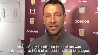 John terry explains why he chose aston villa