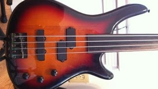 Stagg BC300 Fretless Bass Review and Demo