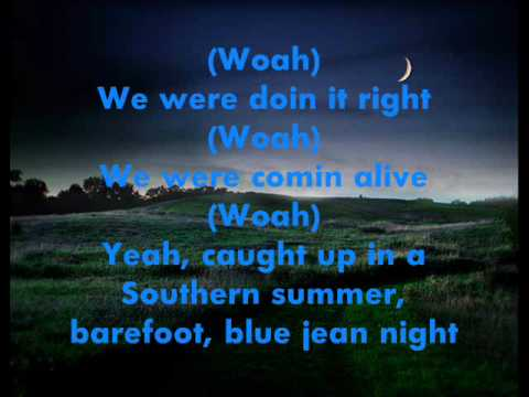 Barefoot, Blue Jean Night Jake Owen Lyrics