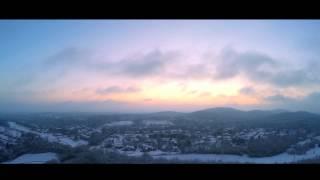 Snow at Sunrise (Crockett Park Aerial Footage)
