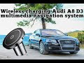 Fast Wireless Charging On Audi A8 D3 Multimedia Navigation System, With Mobile Phone Or Tablet.