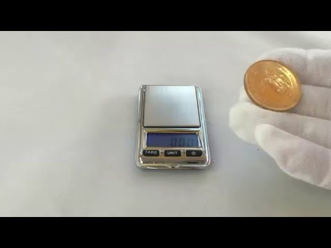 Testing of Golden Coin - Krugerrand - checking weight