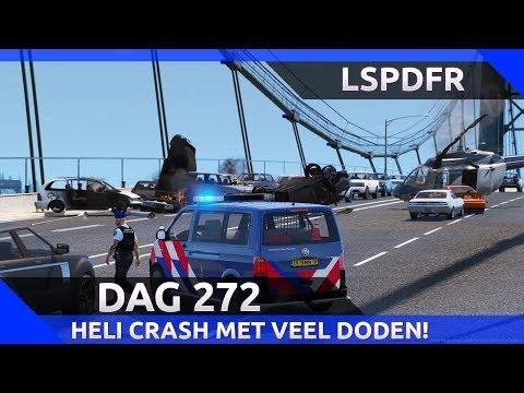 Helikopter stort neer en laat halve brug exploderen! - LSPDFR dag 272