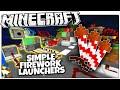 Minecraft | 2 Simple Firework Launchers  (Minecraft Survival Redstone)