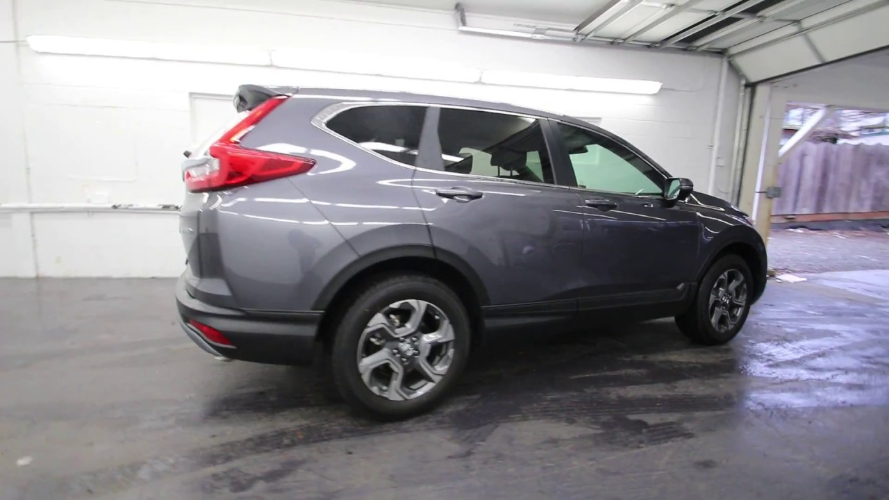 Crv 2017 Modern Steel Metallic >> 2017 Honda CR-V EX-L | Modern Steel Metallic | HL001467 | Seattle | Burien | Renton - YouTube