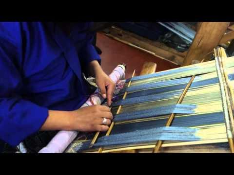 Weaving supplementary warp with kushu, Part 1, Bhutan