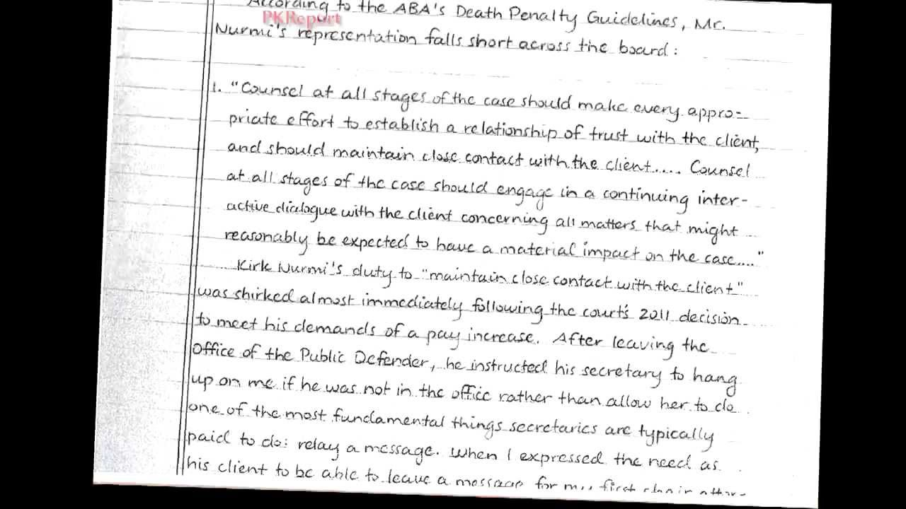 Jodi Arias Files 12 Page Handwritten Letter To Fire Defense Lawyer – Letter of Firing