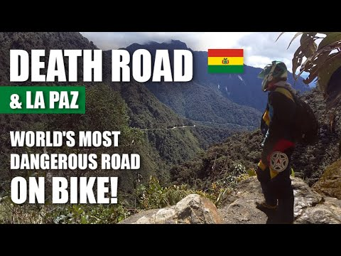 DEATH ROAD (Yungas Road) on bike & LA PAZ [Bolivia] | Travel Series [S1-E9] - South America 2017