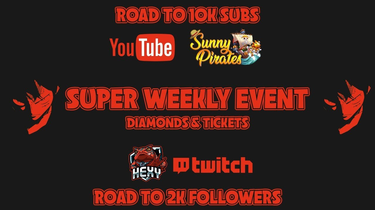 SUPER WEEKLY EVENT & ROAD TO 10K!!!