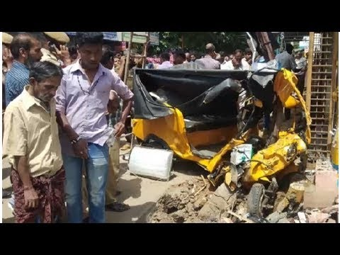 Shocking Road Accident In Coimbatore Speeding Audi Rams Into Auto