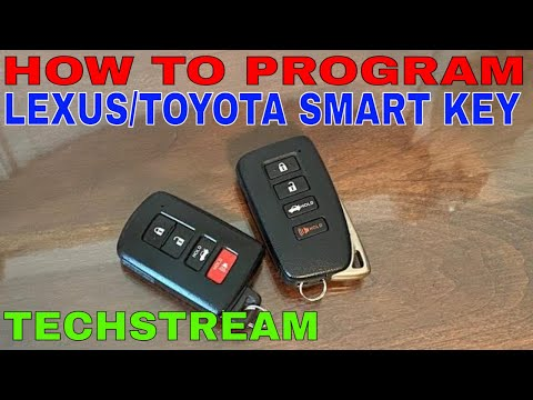 How to Program Lexus Toyota Replacement Smart Key with Techstream